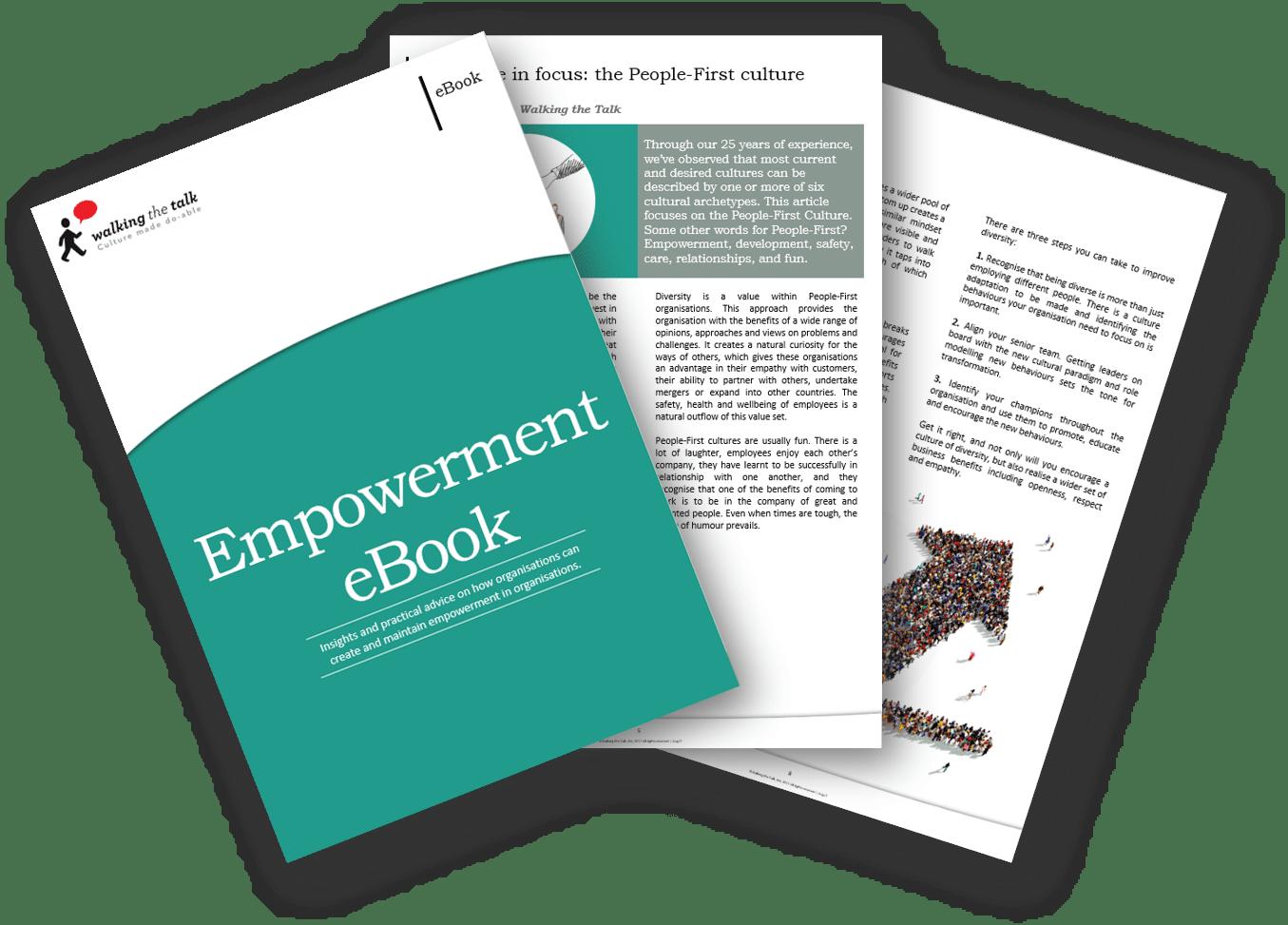 Landing page Empowerement eBook