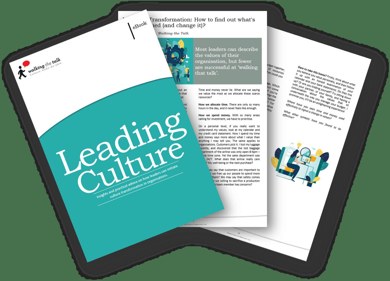 Landing page Leading Culture